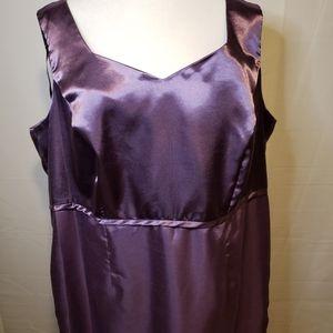 Dana Kay Purple Sleeveless Zipper Back